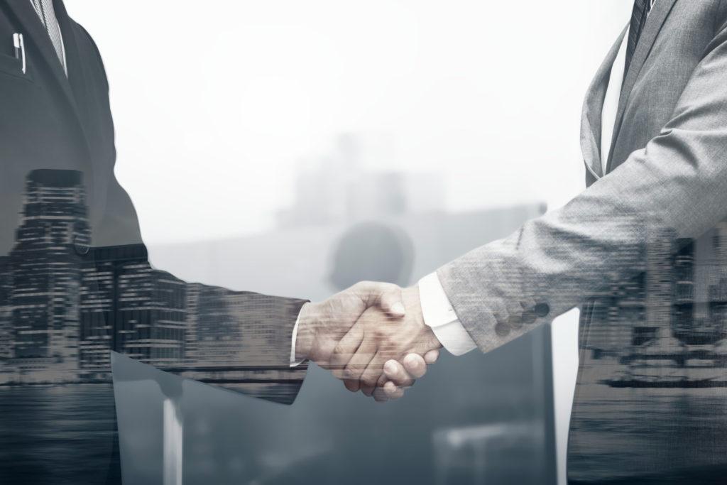 Business Partners Handshake International Business Concept 1